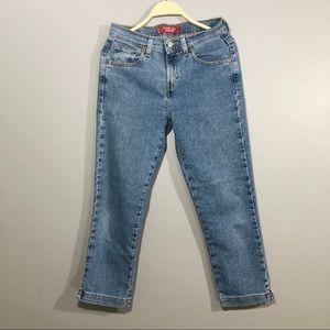 Levis classic slim fit stretchy crop Capri jeans